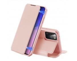 Husa Premium Duxducis Skin X Flip Cover Samsung Galaxy S10 Lite, Roz