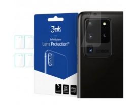 Folie Sticla Nano Glass 3mk Pentru Camera Pentru Samsung Galaxy S20 Ultra, Transparenta, 4 Buc In Pachet