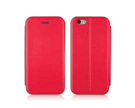 Husa Flip Carte Cu Magnet Lux Upzz iPhone 6 - 6s Red
