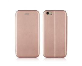 Husa Flip Carte Cu Magnet Lux Upzz iPhone 6 - 6s Rose Gold