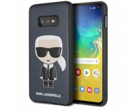 Husa Originala Premium Karl Lagerfeld Samsung Galaxy S10e , Navy, Karl Iconic Full Body -KLHCS10LIKPUBL