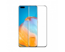 Folie Full Glue Upzz Glass Pentru Huawei P40 Pro ,transparenta Cu Margini Negre Full Cover ,case Friendly