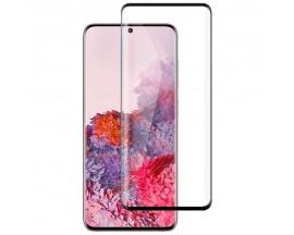 Folie Full Glue Upzz Glass Pentru Samsung Galaxy S20 ,Transparenta cu Margini Negre Full Cover ,Case Friendly