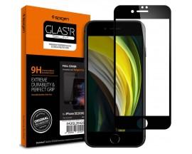 Folie Sticla Originala Spigen Pentru iPhone Se 2 ( 2020 ) ,Transparenta cu Margine Neagra