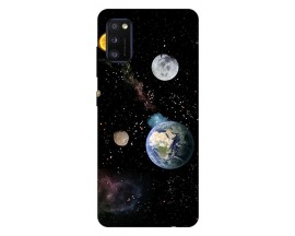 Husa Silicon Soft Upzz Print Samsung Galaxy Galaxy A41 Model Earth