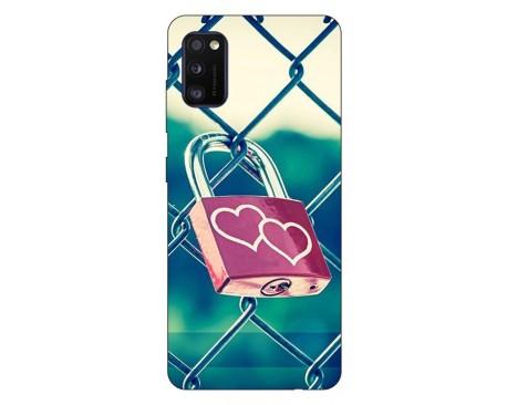 Husa Silicon Soft Upzz Print Samsung Galaxy Galaxy A41 Model Heart Lock