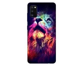 Husa Silicon Soft Upzz Print Samsung Galaxy Galaxy A41 Model Neon Lion