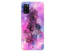 Husa Silicon Soft Upzz Print Samsung Galaxy Galaxy A41 Model Neon Rose