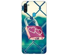 Husa Silicon Soft Upzz Print Samsung Galaxy A11 Model Heart Lock