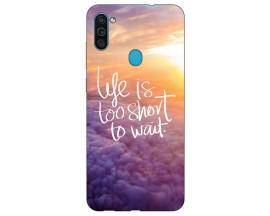 Husa Silicon Soft Upzz Print Samsung Galaxy A11 Model Life