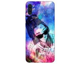 Husa Silicon Soft Upzz Print Samsung Galaxy A11 Model Universe Girl