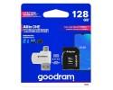 Card Microsd Goodram All In One 128gb Uhs-i ,clasa 10 ,adaptor Sd ,cititor Microsd Otg