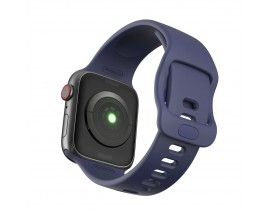 Curea Icon Band Upzz Tech Protect ,compatibila Cu Apple Watch 1/2/3/4/5/6 (42/44mm), Navy