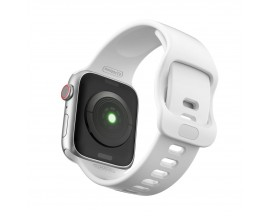 Curea Icon Band Upzz Tech Protect ,compatibila Cu Apple Watch 1/2/3/4/5/6 (42/44mm), Alb