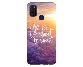 Husa Silicon Soft Upzz Print Samsung Galaxy M21 Model Life