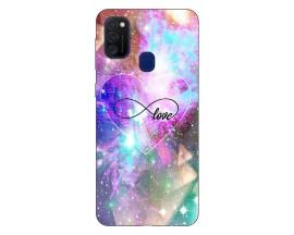 Husa Silicon Soft Upzz Print Samsung Galaxy M21 Model Neon Love