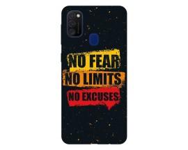 Husa Silicon Soft Upzz Print Samsung Galaxy M21 Model No Fear
