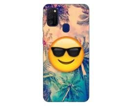 Husa Silicon Soft Upzz Print Samsung Galaxy M21 Model Smile