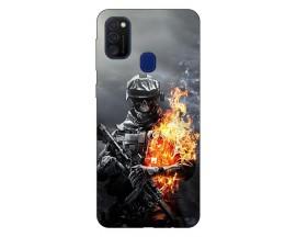 Husa Silicon Soft Upzz Print Samsung Galaxy M21 Model Soldier