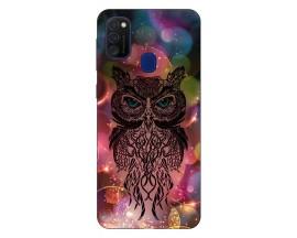 Husa Silicon Soft Upzz Print Samsung Galaxy M21 Model Sparkle Owl