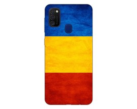 Husa Silicon Soft Upzz Print Samsung Galaxy M21 Model Tricolor