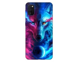 Husa Silicon Soft Upzz Print Samsung Galaxy M21 Model Wolf