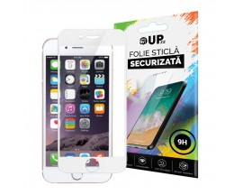 Folie Sticla 3D 0.3mm Full Cover iPhone 8 Plus Alba