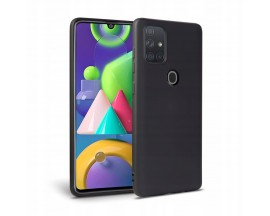 Husa Premium Upzz Liquid Silicon Pentru Samsung Galaxy M21 Cu Invelis Alcantara La Interior , Negru