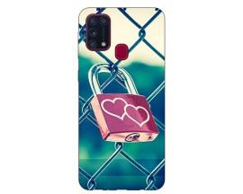 Husa Silicon Soft Upzz Print Samsung Galaxy M31 Model Heart Lock