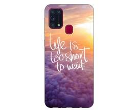 Husa Silicon Soft Upzz Print Samsung Galaxy M31 Model Life