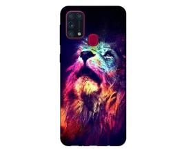 Husa Silicon Soft Upzz Print Samsung Galaxy M31 Model Neon Lion