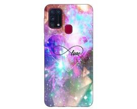 Husa Silicon Soft Upzz Print Samsung Galaxy M31 Model Neon Love