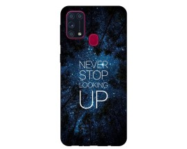 Husa Silicon Soft Upzz Print Samsung Galaxy M31 Model Never Stop