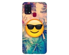 Husa Silicon Soft Upzz Print Samsung Galaxy M31 Model Smile