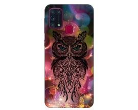 Husa Silicon Soft Upzz Print Samsung Galaxy M31 Model Sparkle Owl