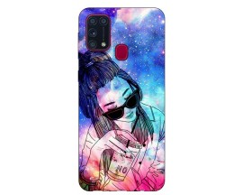 Husa Silicon Soft Upzz Print Samsung Galaxy M31 Model Universe Girl