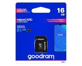 Card MicroSd Goodram 16Gb, HC Uhs-i ,clasa 10 ,Adaptor Sd