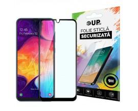 Folie Sticla Full Cover Full Glue Upzz Samsung Galaxy A50 Cu Adeziv Pe Toata Suprafata Foliei Neagra