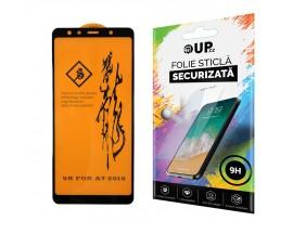 Folie Full Glue 6D Samsung A7 2018 Negru Cu Adeziv Pe Toata Suprafata Foliei