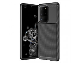 Husa Premium Rugged Carbon New Auto Focus Samsung Galaxy S20 Ultra, Negru