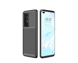 Husa Premium Rugged Carbon New Auto Focus Huawei P40 Pro, Negru