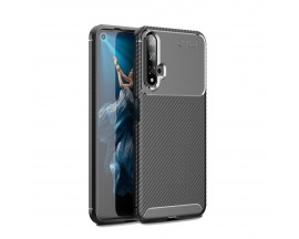 Husa Premium Rugged Carbon New Auto Focus Huawei Nova 5T , Negru