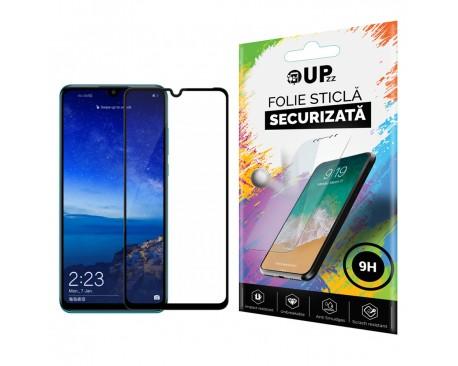 Folie Premium Full Cover Nano Flexi Glass Hybrid Upzz Pentru Huawei P30 Lite Transparenta Cu Magini Negre