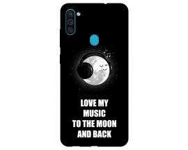Husa Silicon Soft Upzz Print Samsung Galaxy M11 Music