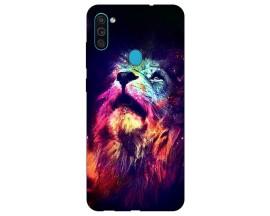 Husa Silicon Soft Upzz Print Samsung Galaxy M11 Neon Lion