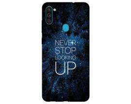 Husa Silicon Soft Upzz Print Samsung Galaxy M11 Never Stop