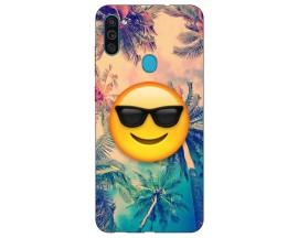 Husa Silicon Soft Upzz Print Samsung Galaxy M11 Smile