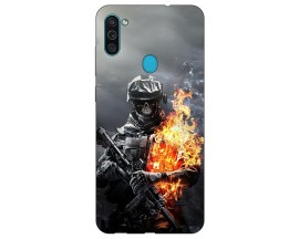 Husa Silicon Soft Upzz Print Samsung Galaxy M11 Soldier