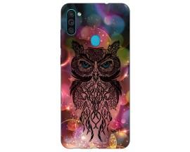 Husa Silicon Soft Upzz Print Samsung Galaxy M11 Sparkle Owl