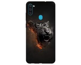 Husa Silicon Soft Upzz Print Samsung Galaxy M11 Tiger